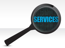 Services under review concept illustration design Royalty Free Stock Photo
