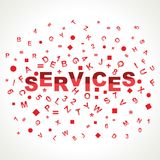Services word with in alphabets Royalty Free Stock Photography