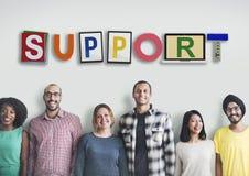 Servicesamarbete Team Advice Help Aid Concept Royaltyfri Bild