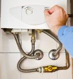 Servicing gas boiler Stock Photography