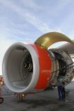 Servicing jet-engine Royalty Free Stock Image