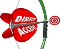 Servicio accesible disponible Conv del arco de la blanco de acceso directo de la flecha libre illustration