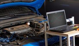 Servicio auto de diagnóstico del coche imagen de archivo
