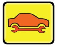 Servicio auto, icono de la reparación auto Imagen de archivo