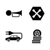 Servicio auto Iconos relacionados simples del vector Foto de archivo