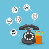 Servicio de atención al cliente Imagen de archivo libre de regalías
