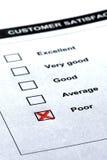 Servicio de atención al cliente - comentario negativo fotos de archivo libres de regalías