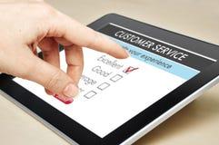 Servicio de atención al cliente en línea foto de archivo libre de regalías