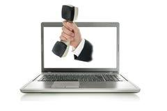 Servicio de atención al cliente en línea Fotos de archivo libres de regalías