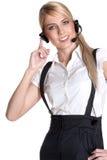 Servicio de atención al cliente femenino Fotografía de archivo libre de regalías