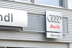 Servicio de Audi Imagen de archivo