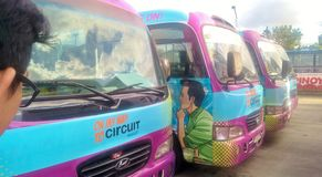 Servicio de autobús Imágenes de archivo libres de regalías