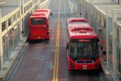 Servicio de autobuses del metro de Lahore Fotografía de archivo