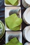 Servicio de cena Fotografía de archivo