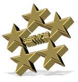 Servicio de cinco estrellas Imágenes de archivo libres de regalías
