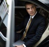 Servicio de Corporate Taxi Transport del hombre de negocios Fotografía de archivo