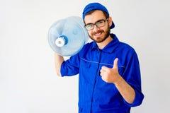 Servicio de entrega del agua Imagen de archivo libre de regalías