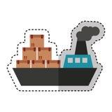 Servicio de entrega del barco de la nave Imagen de archivo