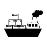Servicio de entrega del barco de la nave Fotos de archivo