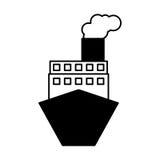 Servicio de entrega del barco de la nave Imagen de archivo libre de regalías