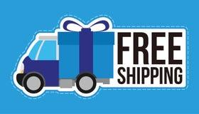 Servicio de entrega del envío gratis Fotografía de archivo libre de regalías