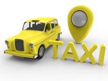 Servicio de GPS del taxi libre illustration