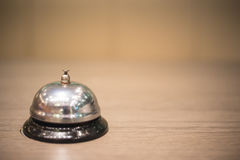 Servicio de la campana del vintage del restaurante Fotografía de archivo