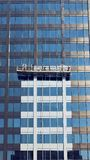 Servicio de la limpieza de Windows para los edificios altos Fotos de archivo libres de regalías