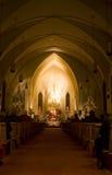 Servicio de la Nochebuena Fotografía de archivo