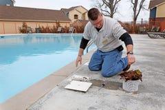 Servicio de la piscina de la caída Foto de archivo
