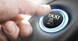 Servicio de la reservación del taxi Fotografía de archivo