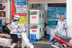 Servicio de lavadero, Saigon Imagen de archivo libre de regalías