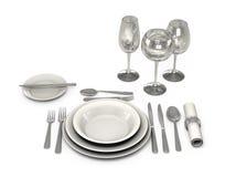 Servicio de mesa clásico en el restaurante Imagenes de archivo