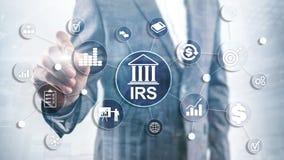 Servicio de renta p?blica El Ministerio de Finanzas del IRS Fondo abstracto del asunto imagen de archivo libre de regalías