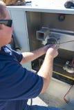 Servicio de reparación del acondicionador de aire Imagen de archivo