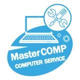 Servicio de reparación del ordenador Computadora portátil con destornillador y la llave libre illustration