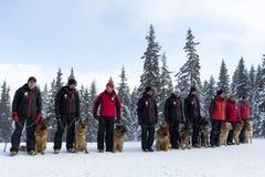 Servicio de rescate de la montaña Fotos de archivo libres de regalías
