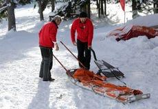 Servicio de rescate de la montaña fotografía de archivo libre de regalías