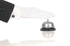 Servicio de sonido Bell del mayordomo Imagen de archivo libre de regalías