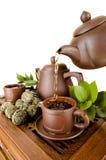 Servicio de té Foto de archivo libre de regalías