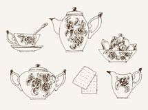 Servicio de té Imagen de archivo