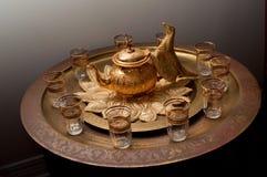 Servicio de té marroquí fotografía de archivo