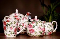 Servicio de té romántico Foto de archivo libre de regalías