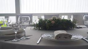 Servicio de una tabla festiva