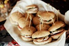 Servicio del abastecimiento con la comida deliciosa Foto de archivo libre de regalías