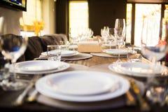Servicio del abastecimiento en restaurante Imagen de archivo libre de regalías