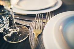 Servicio del abastecimiento en restaurante Foto de archivo