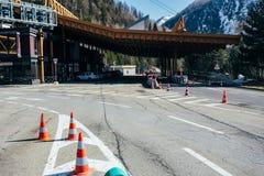 Servicio del camino de Mont Blanc Imagen de archivo