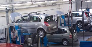 Servicio del coche 3 Imagen de archivo libre de regalías