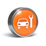 Servicio del coche - botón 3D Imagenes de archivo